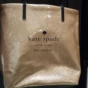 Kate spade rose gold sparkle bag